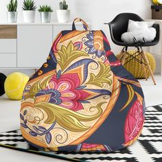 Royal Blue Paisley Bean Bag Chair – This is iT Original Bag Chairs, Bean Bag Chair, Royal Blue, Paisley, Beans, Just For You, Lovers, Pink, Home Decor