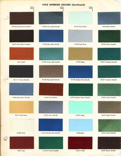 Vintage colors : Vintage Gretsch Guitars : The Gretsch Pages