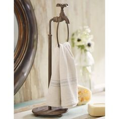Retro Dot Guest Countertop Towel Stand | Pinterest | Countertop, Towels And  Retro
