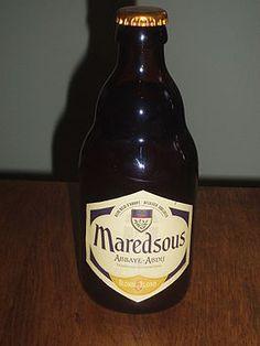 Maredsous 6 Blond bier van 6 % alcoholgehalte Abdijbier met nagisting op fles Brouwerij Duvel Moortgat