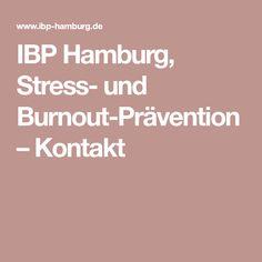 IBP Hamburg, Stress- und Burnout-Prävention – Kontakt