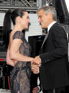 Julianna Margulies and George Clooney reunion