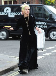 Alternative fashion: Lily Allen set tongues wagging again when she stepped out in London e. Lilly Allen, Quirky Fashion, Floor Length Gown, Office Looks, Queen, Alternative Fashion, Style Icons, Beautiful People, Celebrity Style