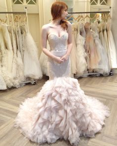 Lazaro Style 3612. Available at Spring 2016 trunk shows