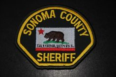 Sonoma County Sheriff Patch, California