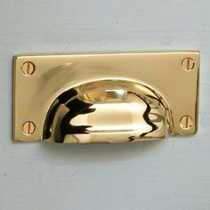 Brass Hooded drawer Pull