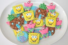 SpongeBob cookies by The Pink Mixing Bowl!