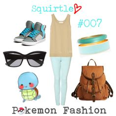 """*-""""Pokemon Fashion""""; Squirtle. #007.☂ by domonator3155 on Polyvore featuring art, pokemon, squirtle and collection"""