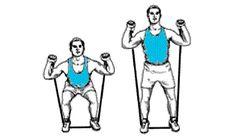 Exercices de musculation avec élastique de fitness