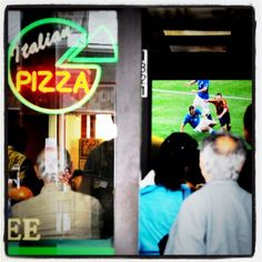 Standing room only on Commercial Drive in during the Spain-Italy match. By Ward Perrin. Euro 2012, Vancouver, Spain, Commercial, Neon Signs, Community, Social Media, Italy, Room