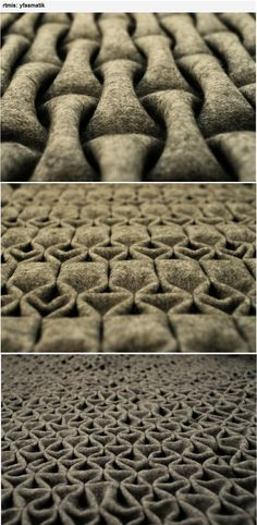 Material of the Month: //Felt//  Berlin-based artist 'rtmis' has created a new felt folding technique. A…:
