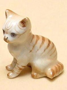 3 D Ceramic Toy Cat No. 1 Dollhouse Miniatures Free Ship