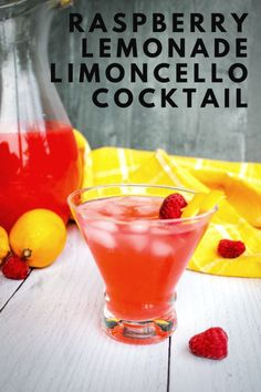 Sweet, homemade raspberry lemonade is a refreshing drink for hot summer afternoons, and is the base for a Raspberry Lemonade Limoncello Cocktail. Iced Tea Recipes, Easy Drink Recipes, Best Cocktail Recipes, Coffee Recipes, Brunch Recipes, Breakfast Recipes, Limoncello Cocktails, Fun Cocktails, Summer Drinks