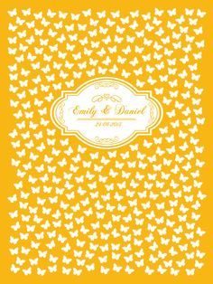 Custom Wedding Guest Book Butterflies Poster Alternative - DIY Printable by AshyDesigns, $29.00