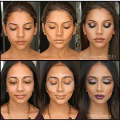 How to contour face so that it is flawless? That is the kind of question every woman asked at least once in her life. What Is Contouring, Face Contouring, Contour Makeup, Contouring And Highlighting, Contour Face, Contouring Tutorial, Face Makeup Tips, Diy Makeup, Makeup Looks