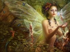 Fairy. The very first dream i had of my daughter after she lf to be with the lord. She came to me as a Fairy