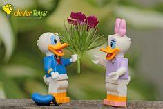 "Donald Duck: ""Oh, Boy! Oh, Boy! Oh, Boy!"" Lego Disney, Donald Duck, Daisy, Christmas Ornaments, Holiday Decor, Bellis Perennis, Christmas Jewelry, Daisies, Christmas Decorations"