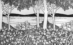 Mackay Hugh Baillie Scott. Landscape wallpaper frieze, c1895.