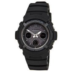 Casio AWGM100B-1A Men's G-Shock Black Resin Tough Solar Atomic Ana-Digital Watch,    #Casio,    #CasioAWGM100B-1A