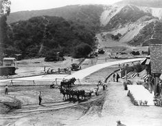 Early days in Hollywoodland, horses everywhere