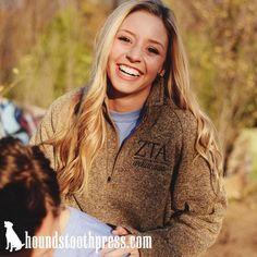 Zeta Tau Alpha Quarter Zip | #LoveTheLab houndstoothpress.com | Zeta Shirts…