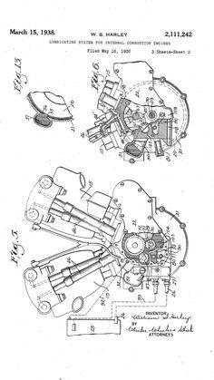 1917 Patent Drawing of Harley-Davidson Sprung ForkOriginal