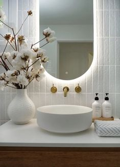 Cheap Home Decor My Bathroom Renovation Revealed Adore Home Magazine.Cheap Home Decor My Bathroom Renovation Revealed Adore Home Magazine Bathroom Renos, Bathroom Renovations, Remodel Bathroom, Bathroom Cabinets, Bathroom Mirrors, Master Bathrooms, Led Mirror, Backlit Mirror, Marble Bathrooms