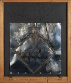 (21AD) RALPH HOTERE Black Window 1982-1991 n\Ralph Hotere 1982-1991 burnished steel, acrylic on board and leadhead nails in original villa… / MAD on Collections - Browse and find over 10,000 categories of collectables from around the world - antiques, stamps, coins, memorabilia, art, bottles, jewellery, furniture, medals, toys and more at madoncollections.com. Free to view - Free to Register - Visit today. #Art #NewZealand #MADonCollections #MADonC