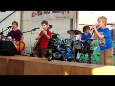 Enter Sandman Metallica by The Mini Band  8 to 10 years old..rock on little dudes rock on!