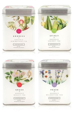 Knockout Botanical Packaging Designs For Organic Farms Tee Design, Design Poster, Label Design, Graphic Design, Package Design, Brand Design, Floral Design, Coffee Packaging, Pretty Packaging