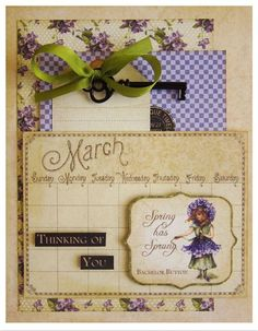 """Try this """"Thinking of You"""" card with a printable project sheet #graphic45 #projectsheets #tutorials"""