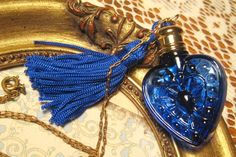 French Evening in Paris Vintage Colbalt Blue Glass by I wore this perfume in high school. Love to find it again. Cobalt Glass, Cobalt Blue, Blue Gold, Antique Perfume Bottles, Old Bottles, Paris Vintage, Azul Real, Beautiful Perfume, Love Blue