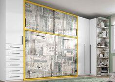 Habitación juvenil con cama abatible horizontal de 135 x 190..Elmenut