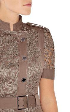 Платье с кружевом коричневое Карен Миллен Karen Millen 16 разм - Основная одежда во Владивостоке