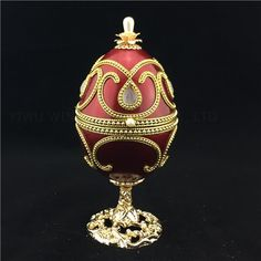 This exquisite and romantic Goose Egg Musical Box is delicately hand carved and adorned with faux pearls.It is genuine goose egg shell treated with reinforcement method. Box Supplier, Faberge Eggs, Jewellery Box, Hand Carved, Carving, Romantic, Christmas Ornaments, Holiday Decor, Music