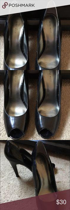NINE WEST black peek a boo toe Heels NINE WEST. Black heels. Peek a boo toe. Size 9 1/2 M GREAT condition. Nine West Shoes Heels