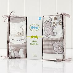 Absolutely adorable and a sentimental favourite, this 5 piece Dumbo set from Disney makes an ideal gift for a newborn or a sweet indulgence for your...