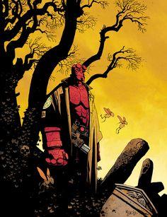 """rockofeternity: """" Hellboy – Mike Mignola """""""