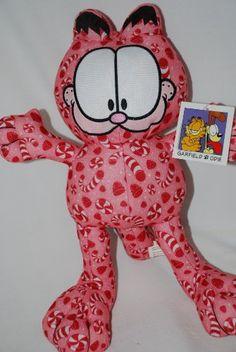 Garfield Peppermint Print 13 Plush NWT Garfield Christmas Plush Garfield Holiday Pllush @ niftywarehouse.com #NiftyWarehouse #Garfield #GarfieldCat #GarfieldTheCat #Comics #JimDavis