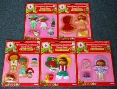 SEALED Lot of Five Vintage Kenner Strawberry Shortcake Doll Berry Wear Outfits #Kenner #ClothingAccessories