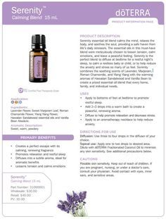 doTERRA Serenity Essential Oil Uses