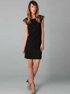 Sheath / Column Bateau   Short  Short / Mini  Lace  Little Black Dresses