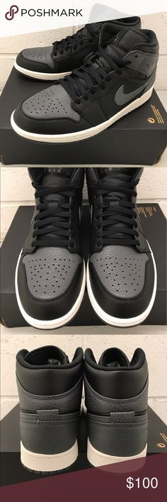 98914ab9485 Air Jordan 1 Mid Shadow Retro Black   Dark Grey Brand new - AJ1 Mid