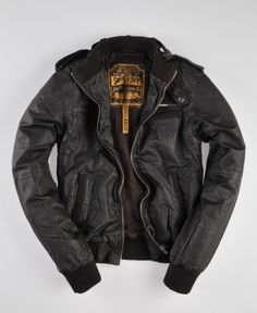 Superdry Supersoft Club Leather Jacket