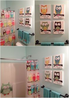 Another Kids Bathroom Idea Owl Bath Collection I Want - Owl bathroom decor set for small bathroom ideas