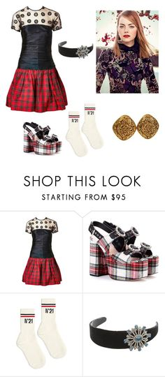 """Untitled #26"" by corina-stanculet ❤ liked on Polyvore featuring Geoffrey Beene, Miu Miu, N°21, Lanvin and Chanel"