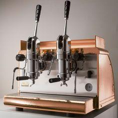 2-group Lever Espresso Machine Copper Victoria Arduino Athena Free Installation and Shipping