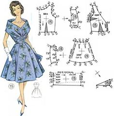 New dress pattern vintage diy Ideas Sewing Dress, Diy Dress, Sewing Clothes, Diy Clothes, Vogue Sewing Patterns, Sewing Patterns For Kids, Clothing Patterns, Pattern Sewing, Vintage Vogue