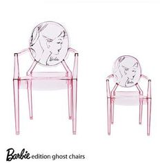 Barbie Special Edition Lou Lou Ghost chair by Philippe Stark for Kartell ... celebrating the 60th  anniversary of Kartell & the 50th anniversary of Barbie