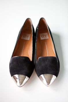 Worn with Leather cigarette pants and a cashmere turtle neck... oooh lala!  Lunna Cap Toe Flats